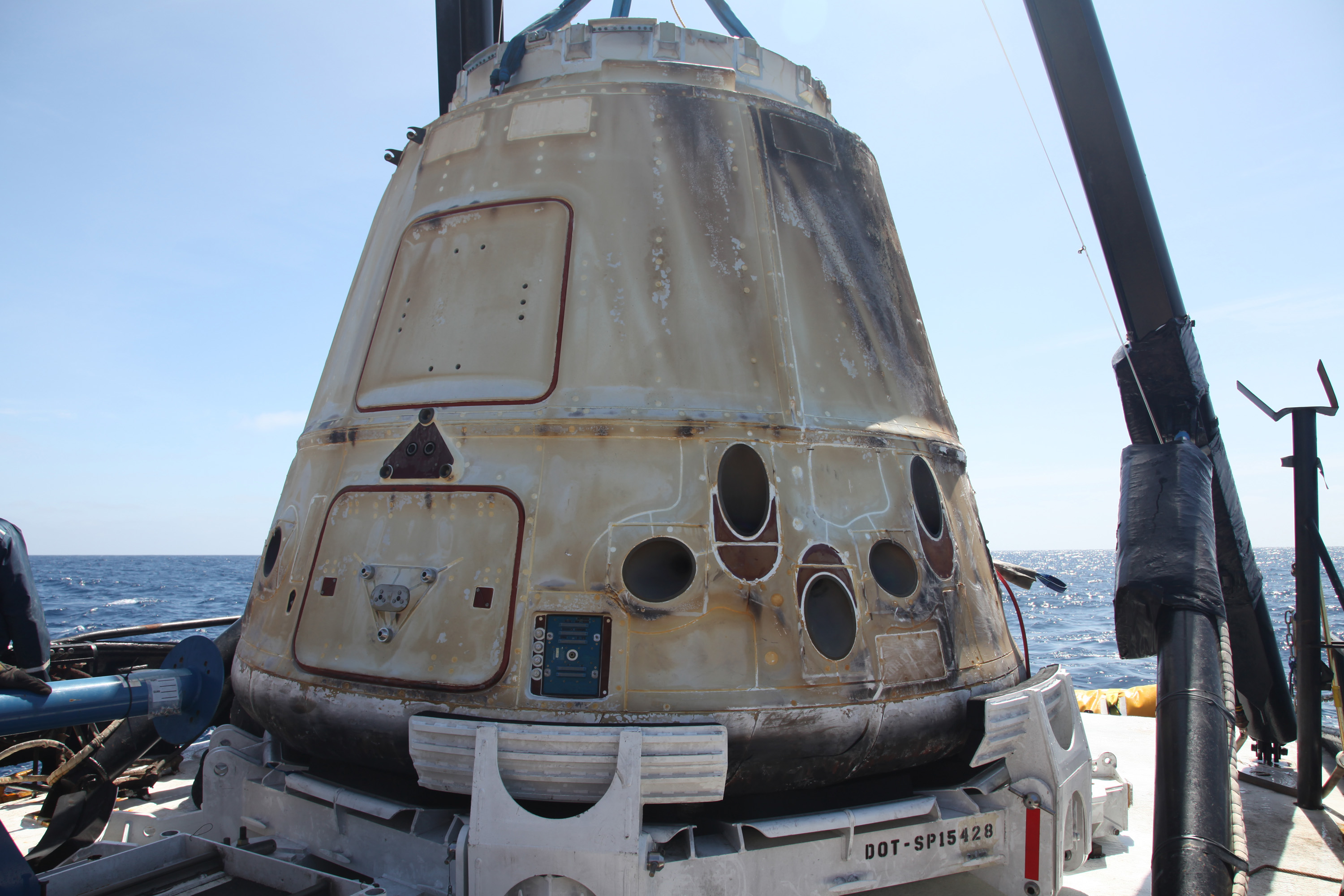 Dragon capsule, manufactured by Space-X