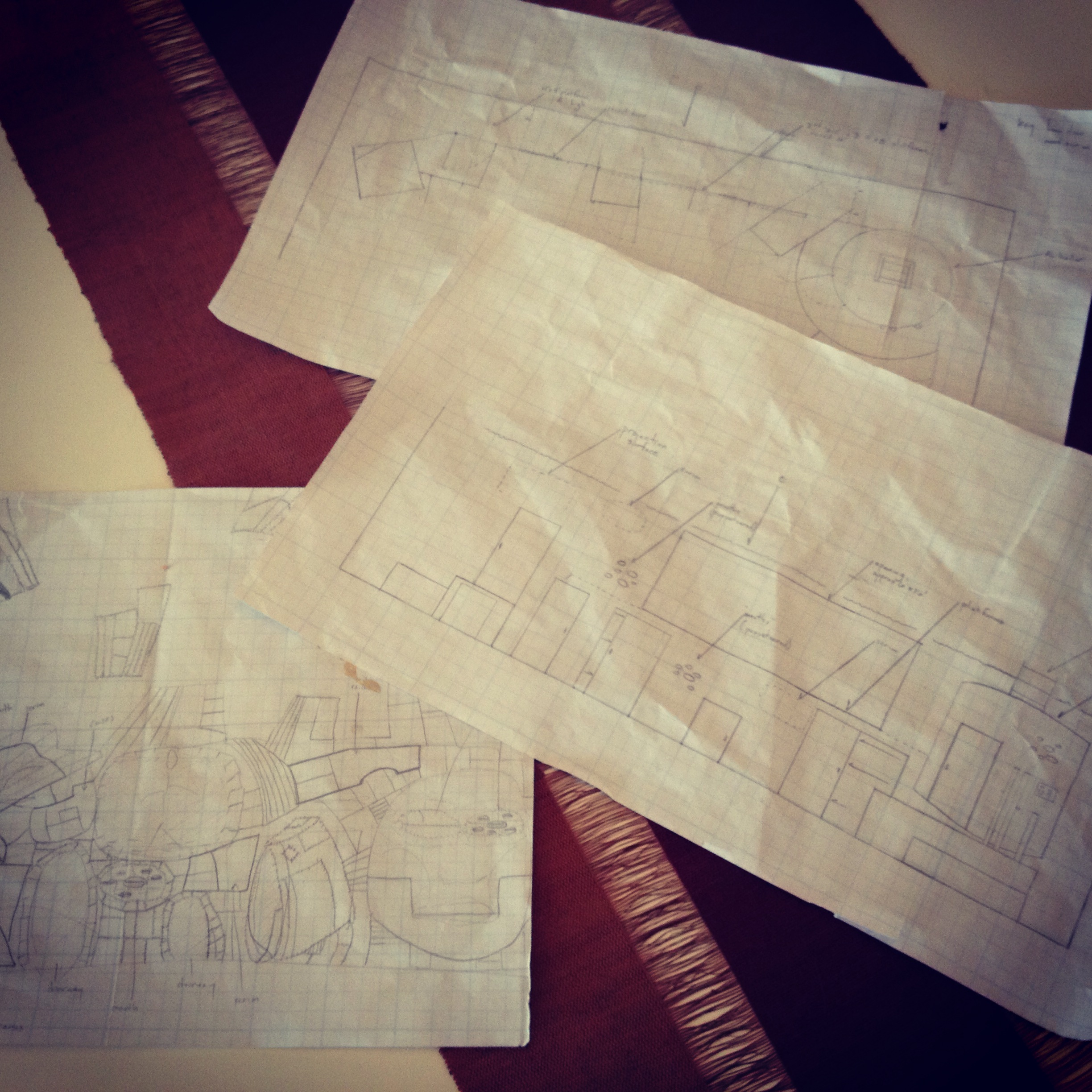 """""""First-pass"""" sketch, plan and elevation"""