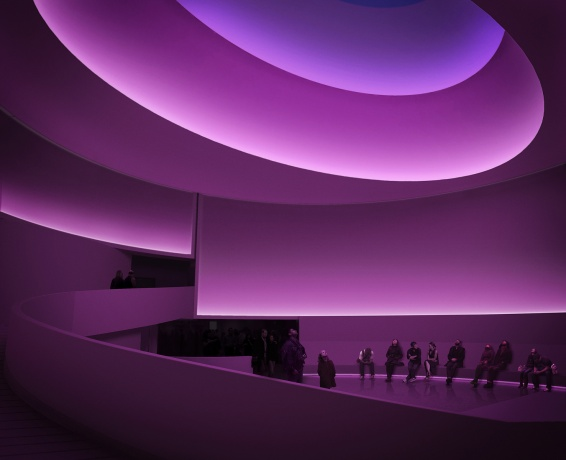 Concept of an upcoming James Turrell installation at the Guggenheim